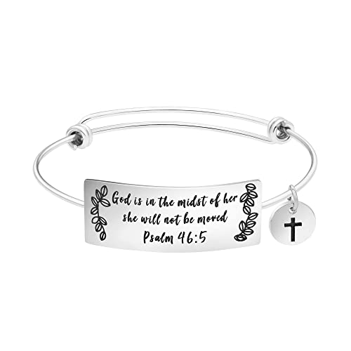 Amazon Yiyang Bangle Bracelet For Girls Inspirational Religious Birthday Gifts Her Stainless Steel Jewelry