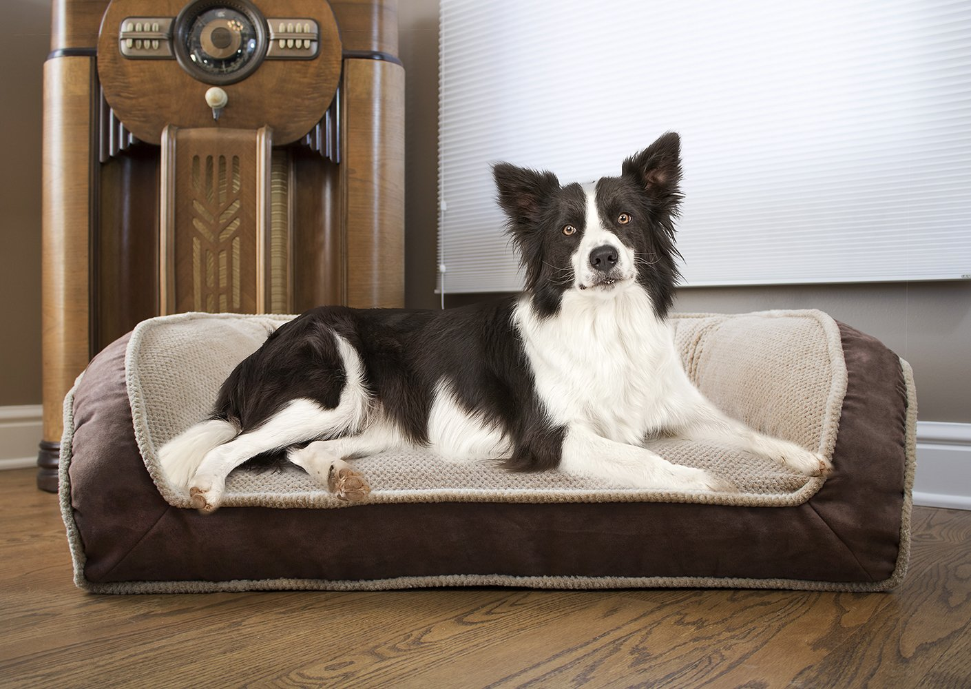 Arlee 59-01000DRF Deep Seated Lounger Sofa Pet Bed, Small/Medium, Driftwood Tan