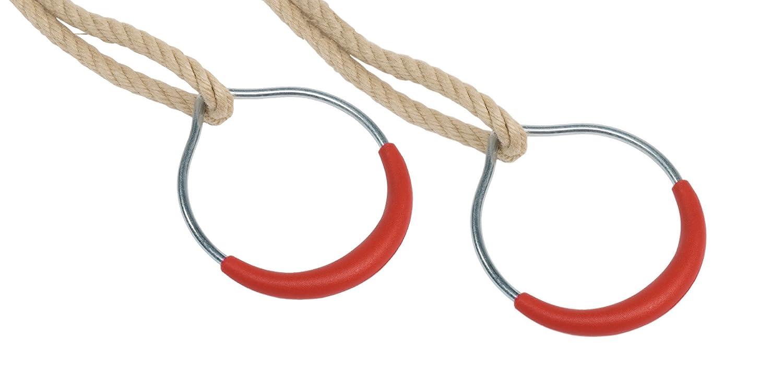 Anneaux de gymnastique en métal avec corde (Lot de 2) Kbt ATJE 14