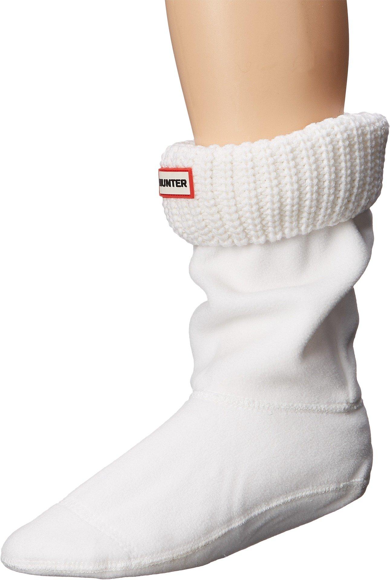 Hunter Women's Half Cardigan Boot Sock - Short White Sock