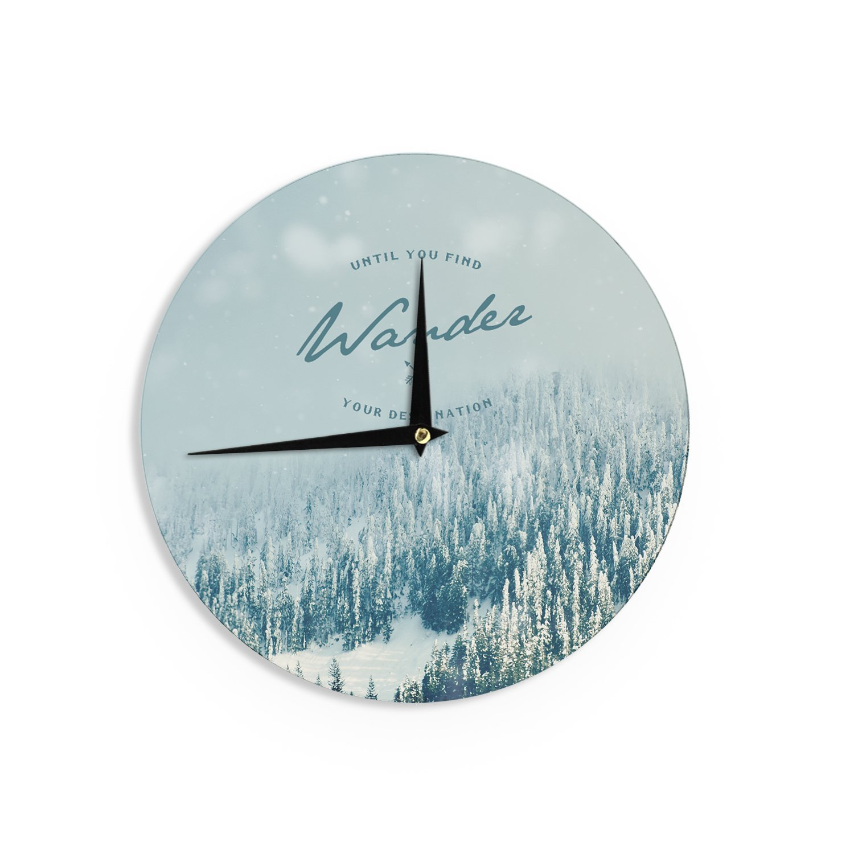 12-Inch Kess InHouse Robin Dickinson Follow Your Own Arrow City Landscape Wall Clock
