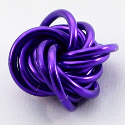 Möbii Ultra Violet: Small Mobius Hand Fidget Toy, Shiny Deep Purple Stress Ball for Restless Hands, Office Toy