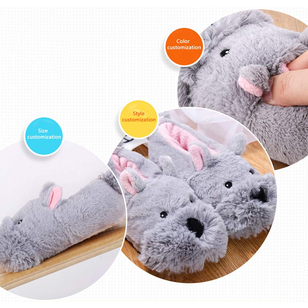 Warm Cute Cartoon Animals Slippers Cozy Winter Plush Anti-Slip House Shoes for Toddler Boys Girls