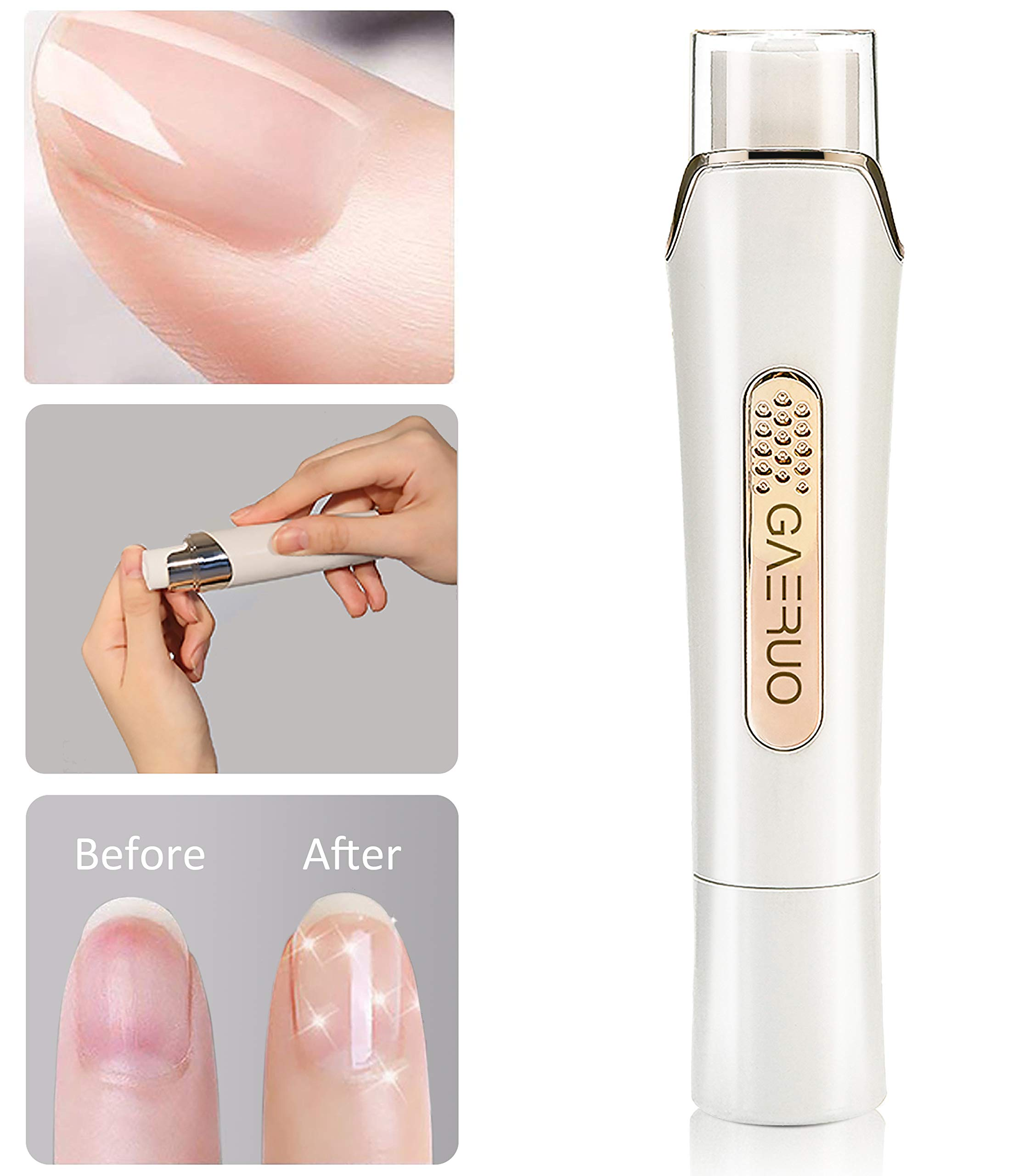 Premium Electric Manicure Pedicure Tool, Rechargeable Nail Buffer and Polisher, Easily File and Shine Fingernails, Toenails for Naturally Beautiful Looking Nails (Standard Package) by SHAO
