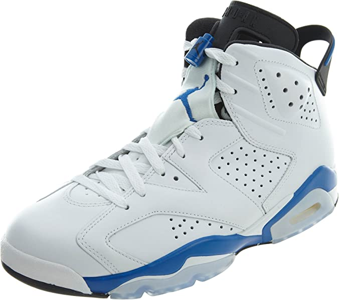 new styles f1580 27440 Nike Herren Air Jordan 6 Retro Turnschuhe, (Weiß Sport Blau-Schwarz)