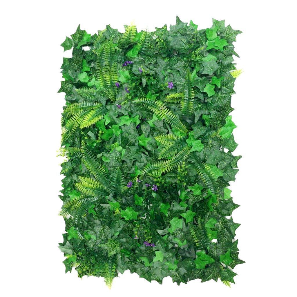 YTYCJSFH Césped de Plantas Flor Hierba Hoja Enredaderas Artificiales Pared Adorno 40 * 60cm