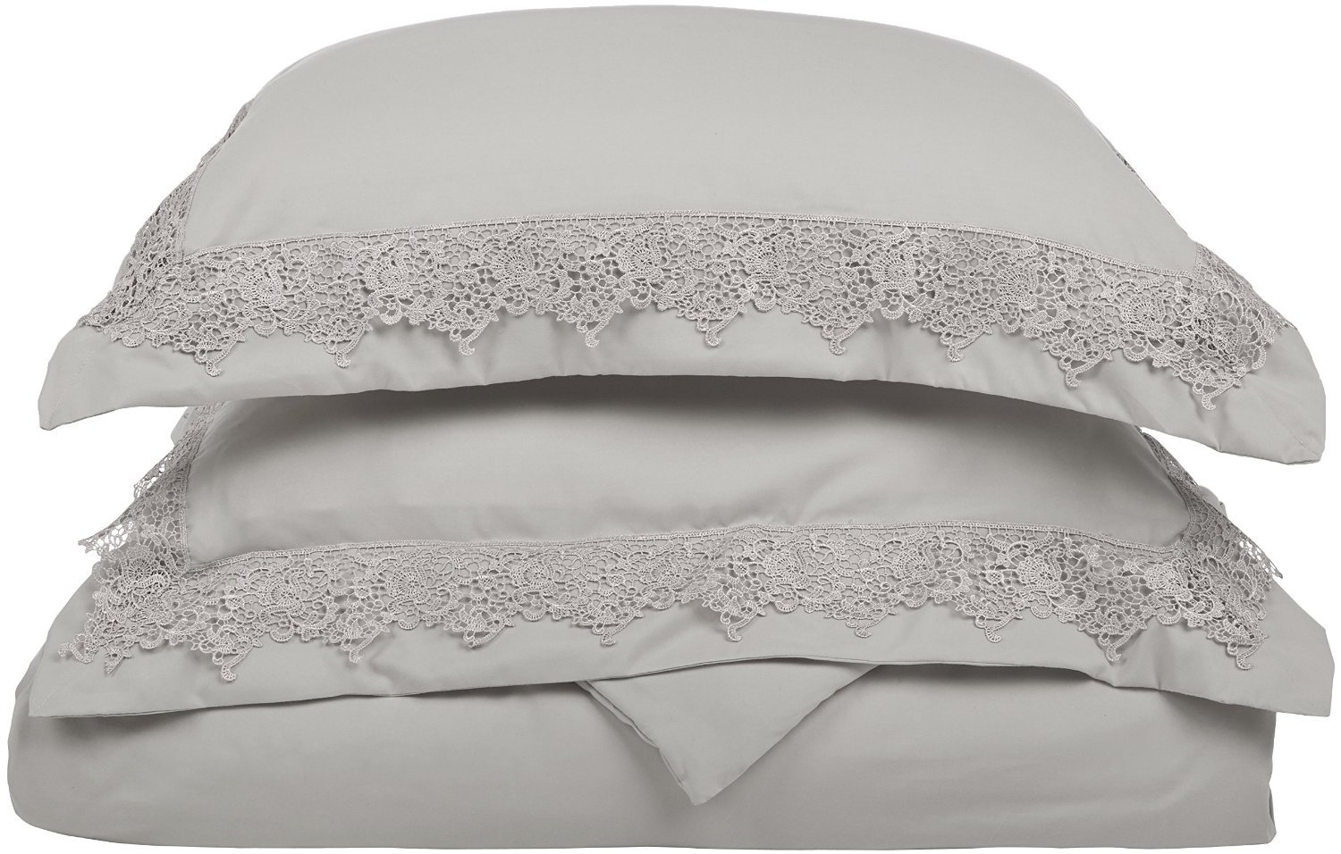 (Twin/Twin XL, Grey/Grey) LUXOR TREASURES Super Soft Light Weight, 100% Brushed Microfiber, Twin/Twin XL, Wrinkle Resistant, Grey Duvet Set with Regal Lace Pillowshams in Gift Box B00QILXBMY Twin/Twin XL|グレー/グレー グレー/グレー Twin/Twin XL