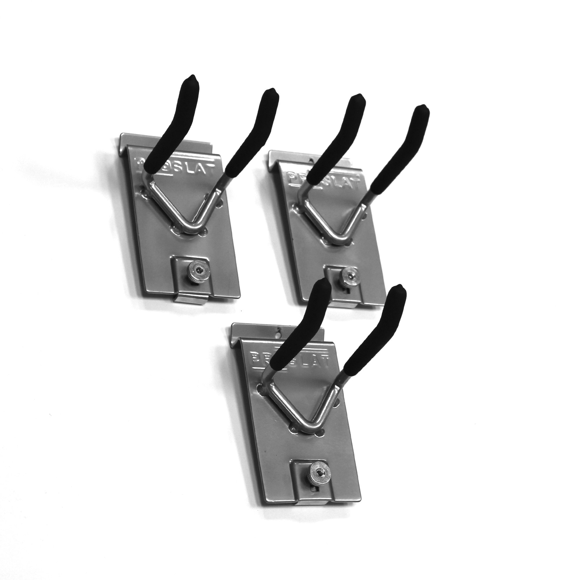 Proslat 13011 Double 4-Inch Locking Hooks Designed for Proslat PVC Slatwall, 3-Pack by Proslat