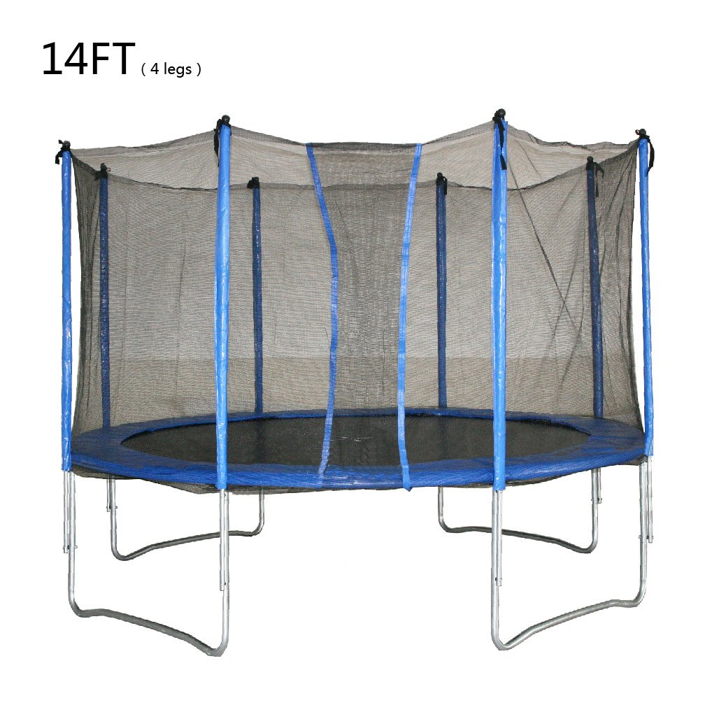 10FT 12FT 14FT Rocket Bunny® Sports Trampoline With Safety Net Enclosure for Kids and Adults
