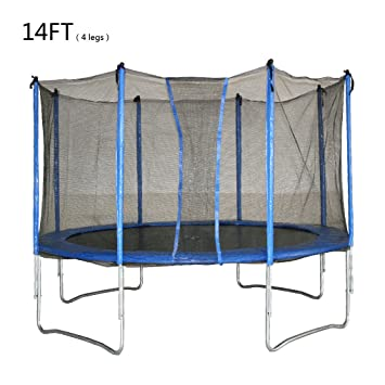 10ft 12ft 14ft rocket bunny sports trampoline with safety net enclosure for kids and adults