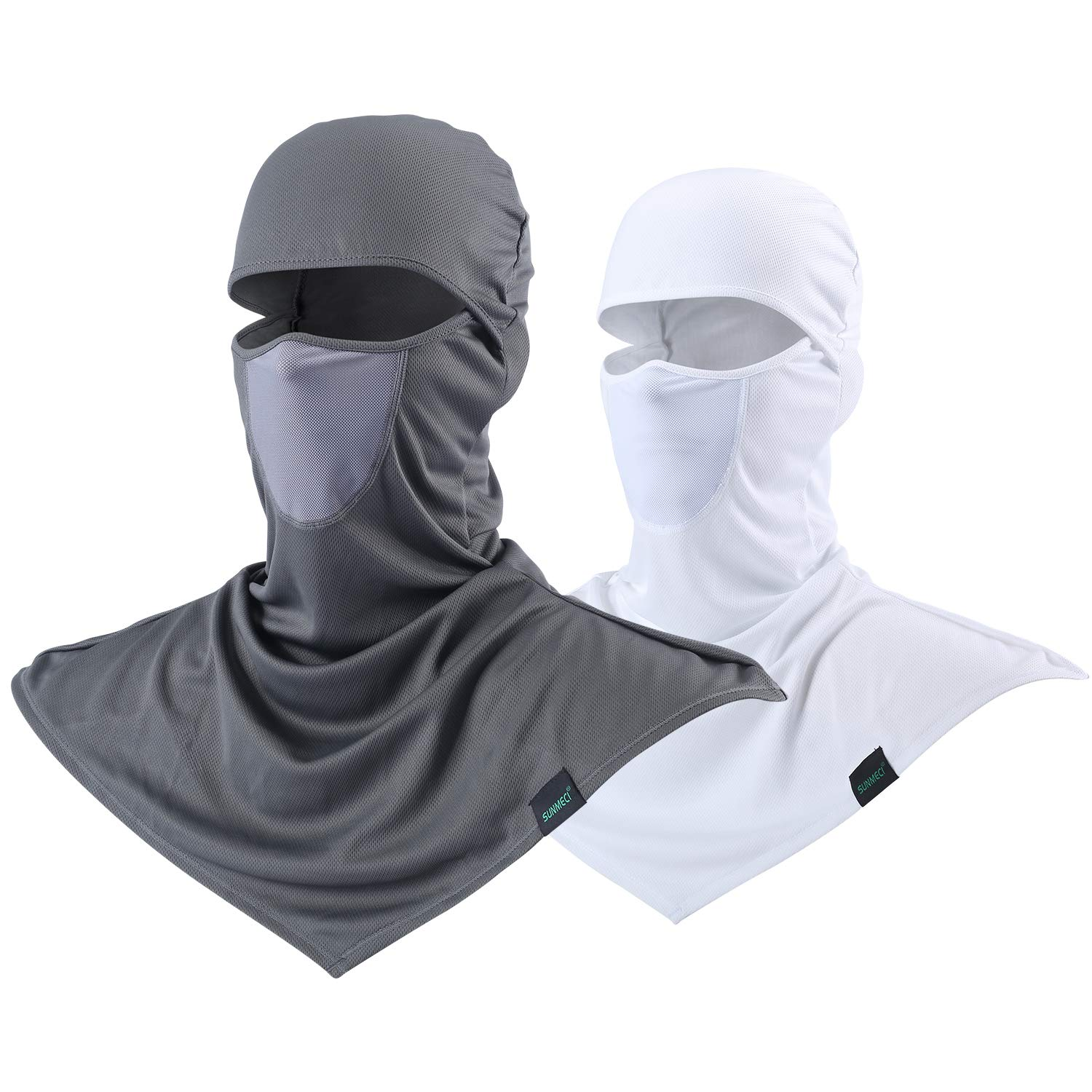SUNMECI Balaclava - Windproof and Sun Protection Full Face Mask Cycling Motorcycle Breathable Neck Cover in Summer for Men and Women