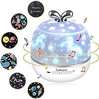 CoPedvic Proyector Estrellas, 3 en 1 Lampara Proyector Altavoz Bluetooth USB Luz Nocturna Infantil Recargable Musica…
