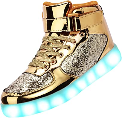 Odema Unisex LED Shoes High Top Light Up Sneakers
