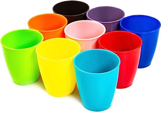 Amazon.com: Vasos de plástico para niños de 8 onzas, 9 ...