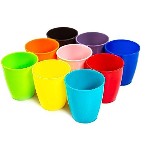 Youngever vasos de plástico para niños de 8 onzas, paquete de 9 ...