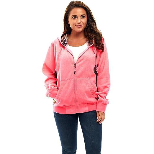 a1df76a609f TrailCrest Mossy Oak Camo Women s Full Zip Up Hoodie Sweatshirt Jacket