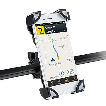 AGPTEK Soporte móvil Bicicleta Motocicleta Universal Smartphone, GPS y Otros Dispositivos de 3,5 a 6.5 Pulgadas, Color Negro: Amazon.es: Electrónica