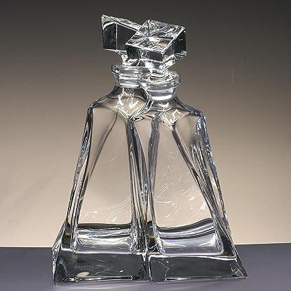 Botellas de Cristal, Decanter, garrafa, para Whisky y Licor, de Bohemia,