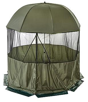 Brolly – Refugio de pesca paraguas con cubierta extraíble de cúpula lateral diámetro 2,50