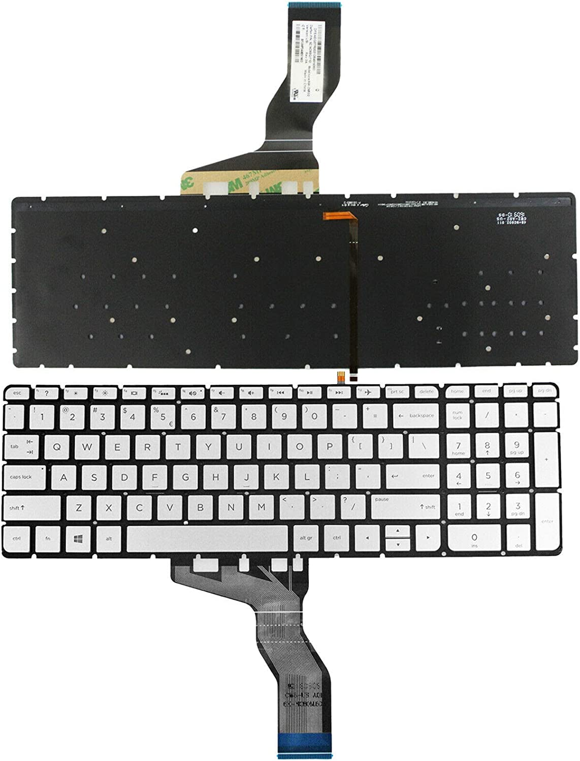 GinTai US Keyboard with Backlit Replacement for HP 15-aw003cy 15-aw004cy 15-aw005cy 15-aw006cy 15-aw078nr 15-aw167cl 15-aw001cy 15-aw002cy 15-aw050ca 15-aw057nr 15-aw060ca 15-aw070ca