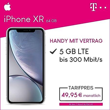 Apple Iphone Xr 64gb Speicher Handy Mit Vertrag 5gb Amazonde