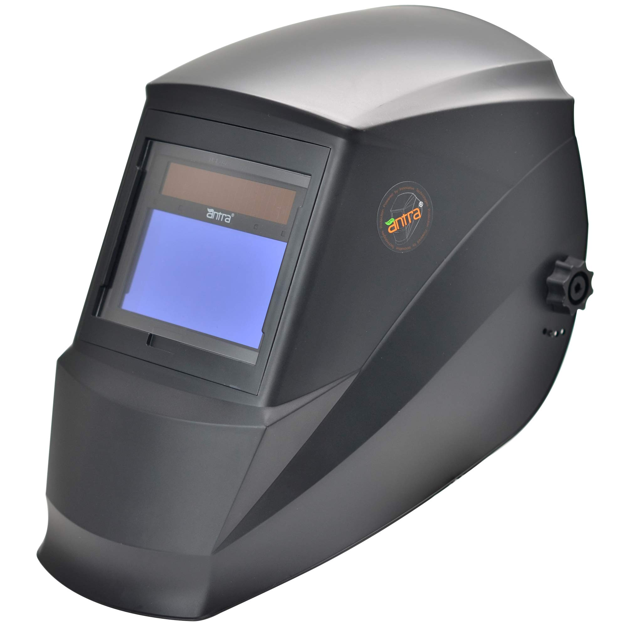 Antra Welding Helmet Auto Darkening AH7-360-0000, Dual Power Solar+ Battery, Wide Shade Range 4/5-9/9-13 with Grinding, 6+1 Extra Lens Covers, Stable for TIG MIG MMA Plasma by Antra