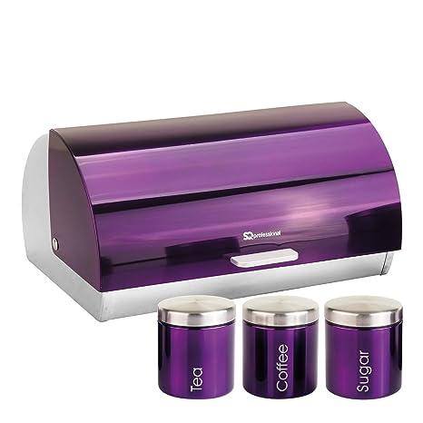 Nuevo 5 pieza conjunto de almacenamiento para Cocina Moderna Color Tapa De Madera Panera Frascos Tarros