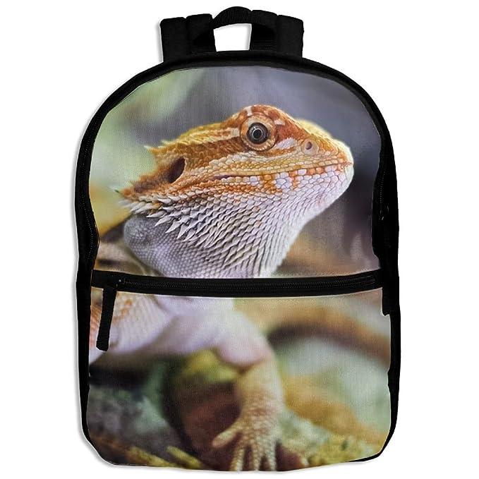 Amazon.com: Feroz dragón Barbudo Lagarto mochila escolar ...