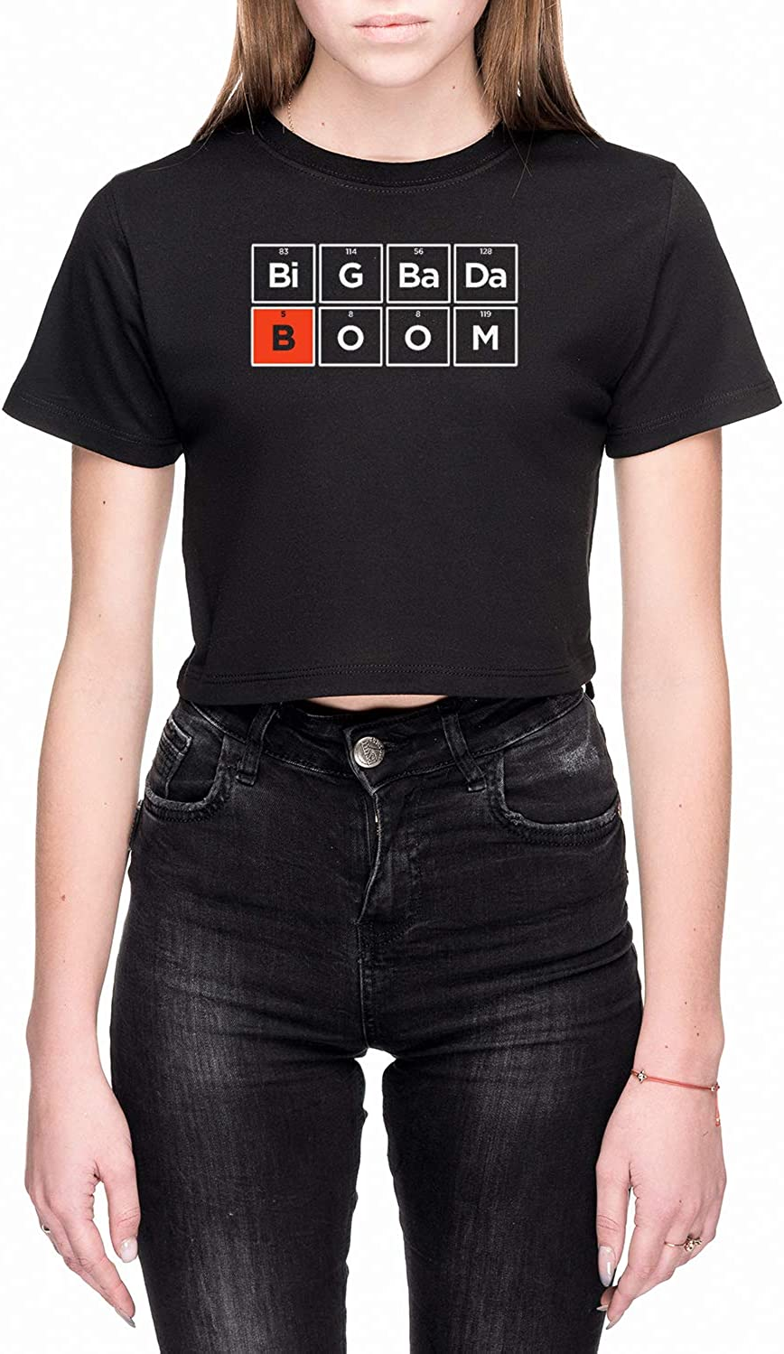 Rundi Boron Mujer Camiseta De Crop Negro Todos Los Tamaños - Women's Crop T-Shirt Black