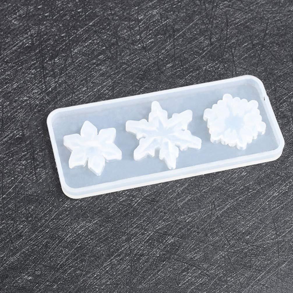 SUPVOX 2 piezas de moldes de silicona colgante de copo de nieve con moldes de arte de fundici/ón huecos de silicona moldes de resina de navidad molde de epoxi para joyer/ía artesanal diy