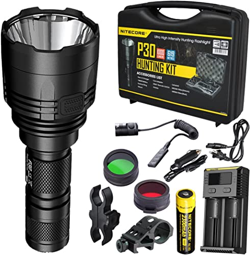 Nitecore P30 1000 Lumens 676 Yards Red and Green Rechargeable Hunting Light