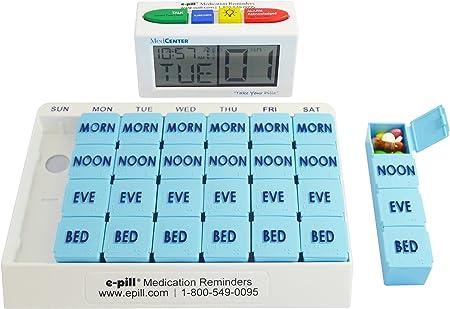 Medcenter Talking Alarm Clock with Pill Box Organiser