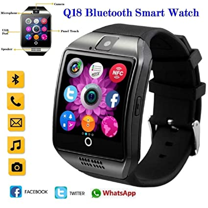 ... Android Watch Fitness Activity Tracker Q18 Smart Phones Best Waterproof Watch Bluetooth Wrist Watch for IOS Android Samsung Phone Facebook Gift Card