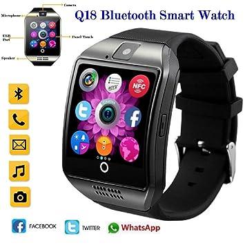 Deporte inteligente relojes IOS reloj inteligente Android reloj Fitness actividad Tracker Q18 Smart teléfonos mejor impermeable
