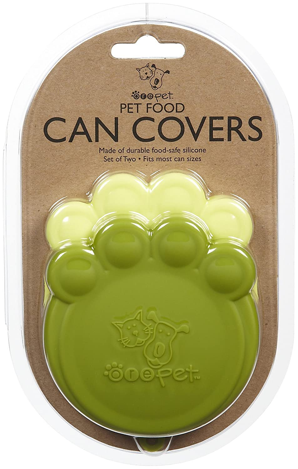 ORE Pet Green & Light Green Paw Can Cover Set