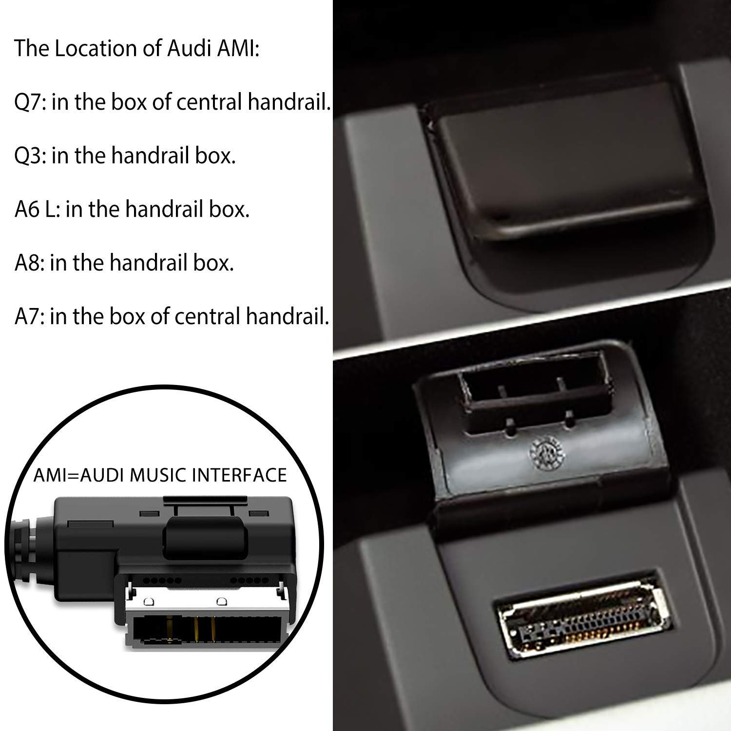 Charger Only VAFCAM AMI Music Interface Charger AUX Cable for Audi VW Jetta Audio Interface 1M Audio for iPhone Xs//Max//X // 8//8 Plus // 7//7 Plus // 6 with iOS System VACFAM