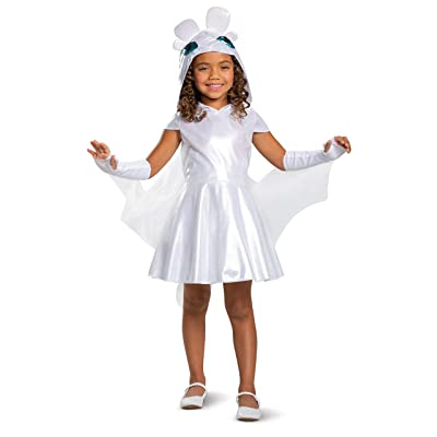 Disguise Light Fury Classic How to Train Your Dragon Child Costume, X-Small REMPTY (3T-4T): Toys & Games