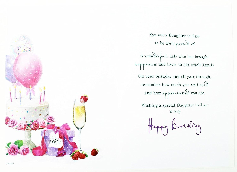 Tarjeta De Cumpleaños Hecho a Mano hija-in-Law