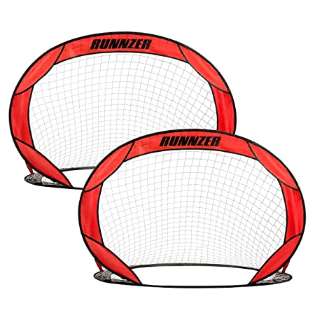 Pop Up Soccer Goal, Portable Goal Nets Set of 2, Goal Nets for Soccer Training Practice with Carry Case 4 x 3.5 x 3