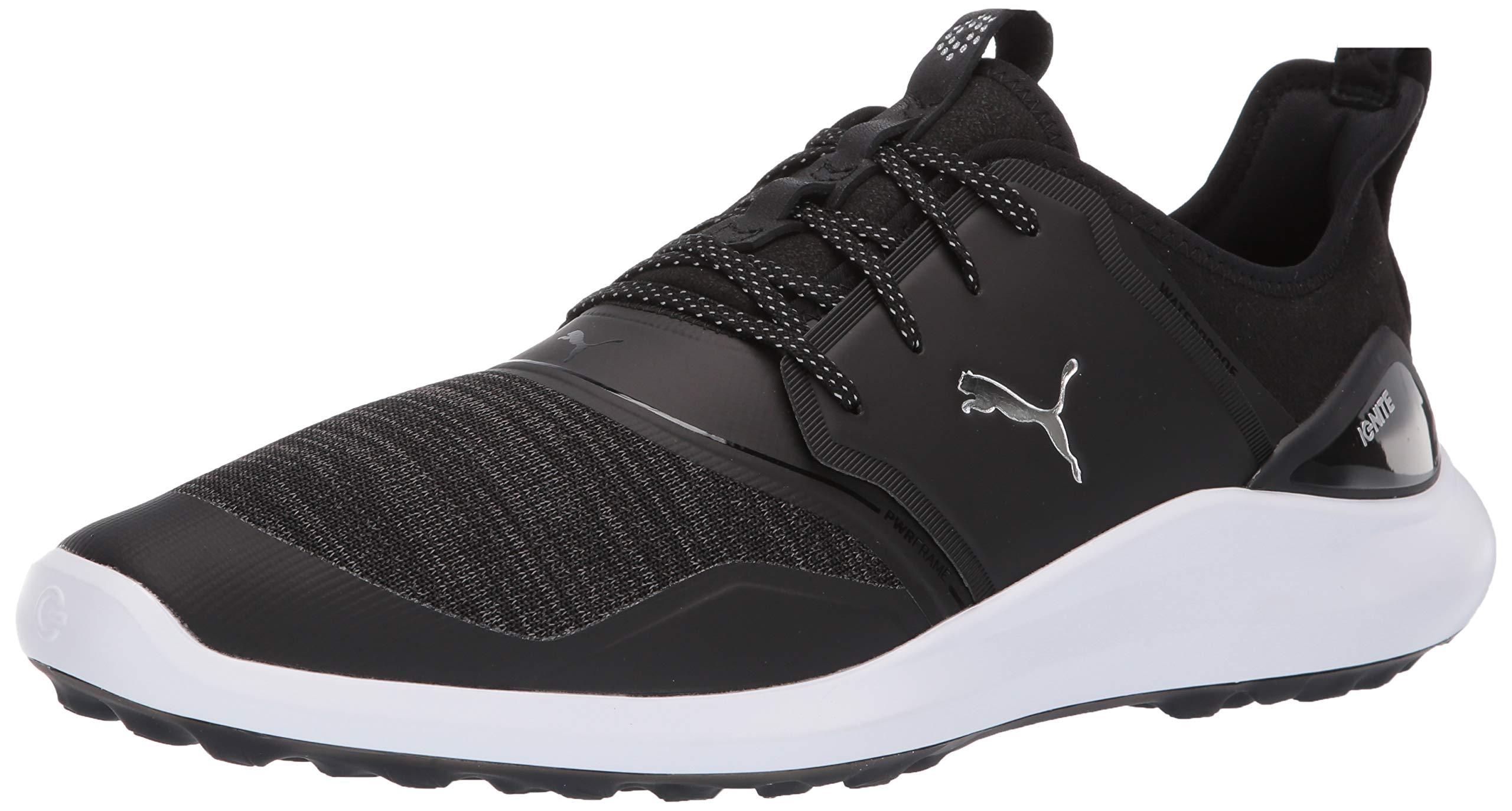 Puma Golf Men's Ignite Nxt Lace Golf Shoe Black Silver-Puma White, 10 M US by PUMA