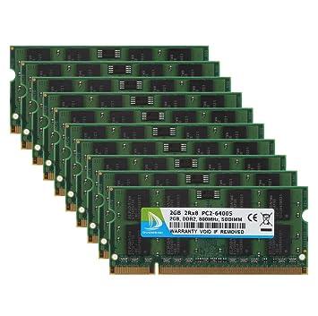 Duo meiqi Memoria de 2 GB (1 x 2 GB) DDR2 800 MHz (PC2 6400S) So DIMM Ordenador Portatil ...