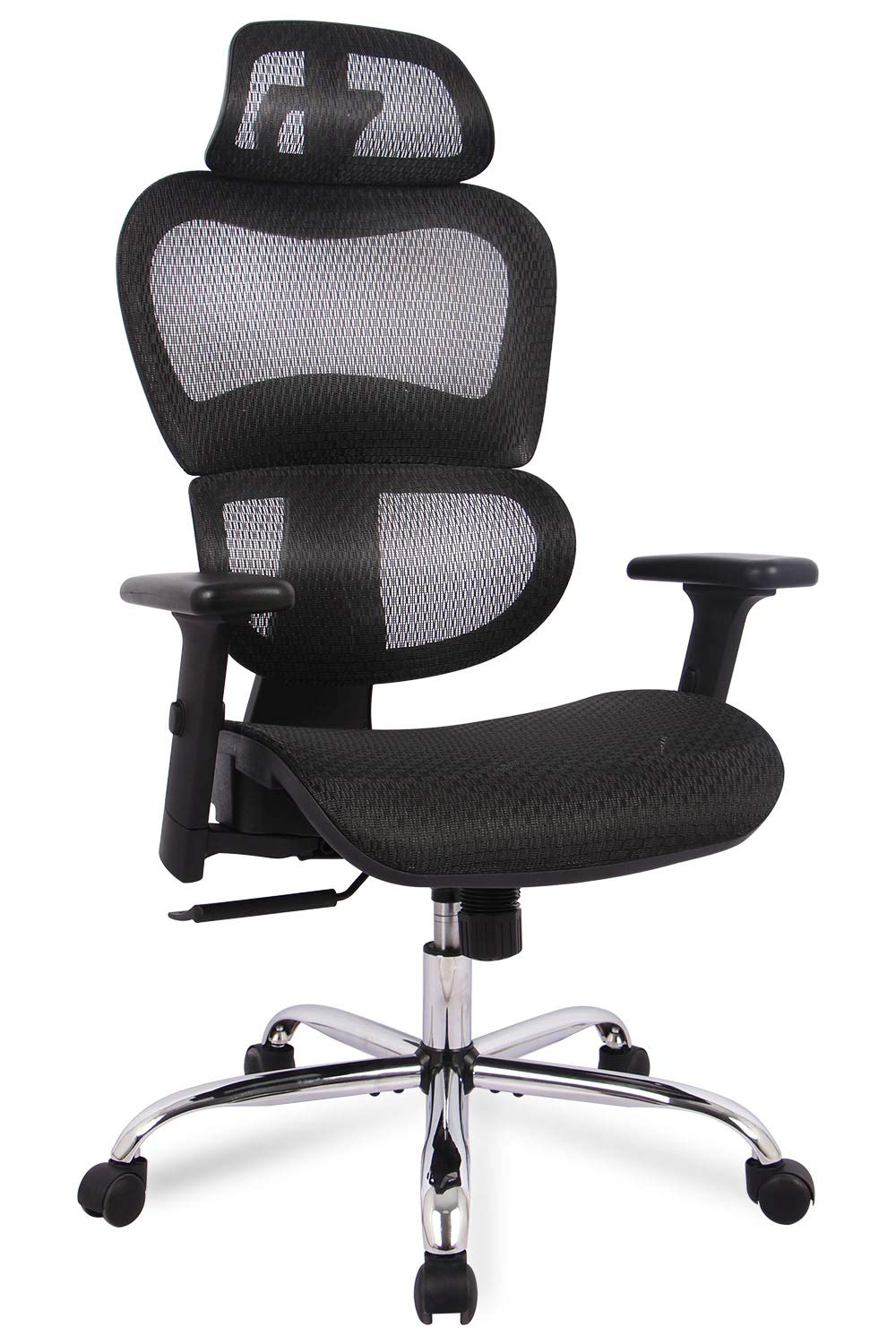 Office Chair, Ergonomics Mesh Chair Computer Chair Desk Chair High Back Chair w/Adjustable Headrest and Armrest by SMUGDESK