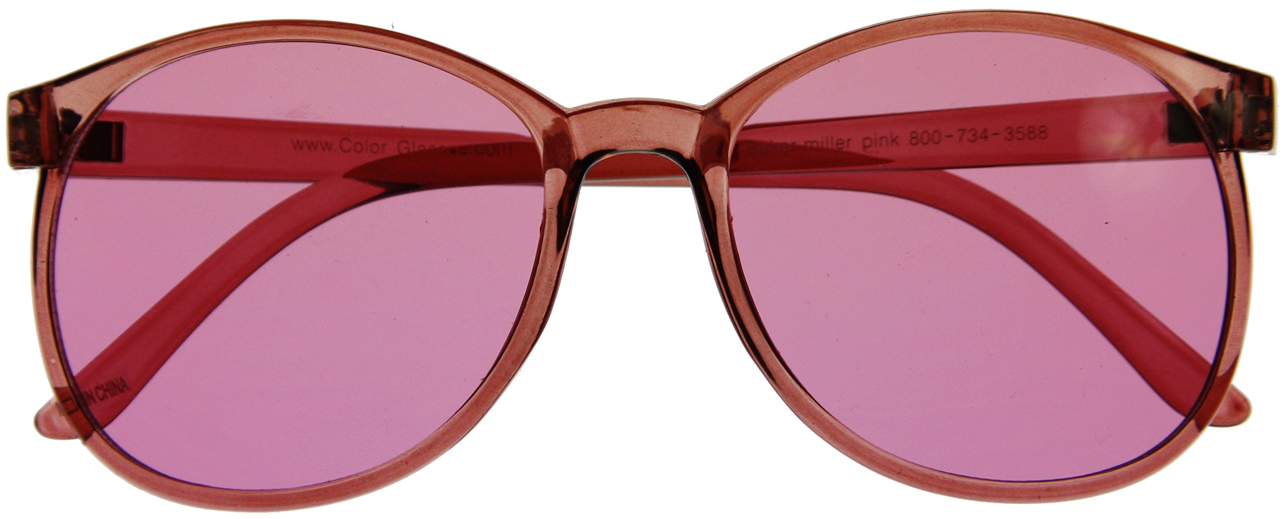 86f0c0f694 Amazon.com   10 Colors Available  Round Style Color Therapy Glasses -  Colored Lens Sunglasses (Pink)  Health   Personal Care