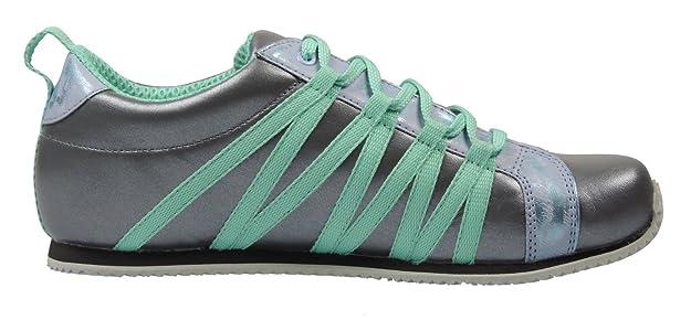 Sicilia 247043 Damen Sneaker Leder, Grau/Blau, Größe 38 mit schmalem Fußbett Papillio