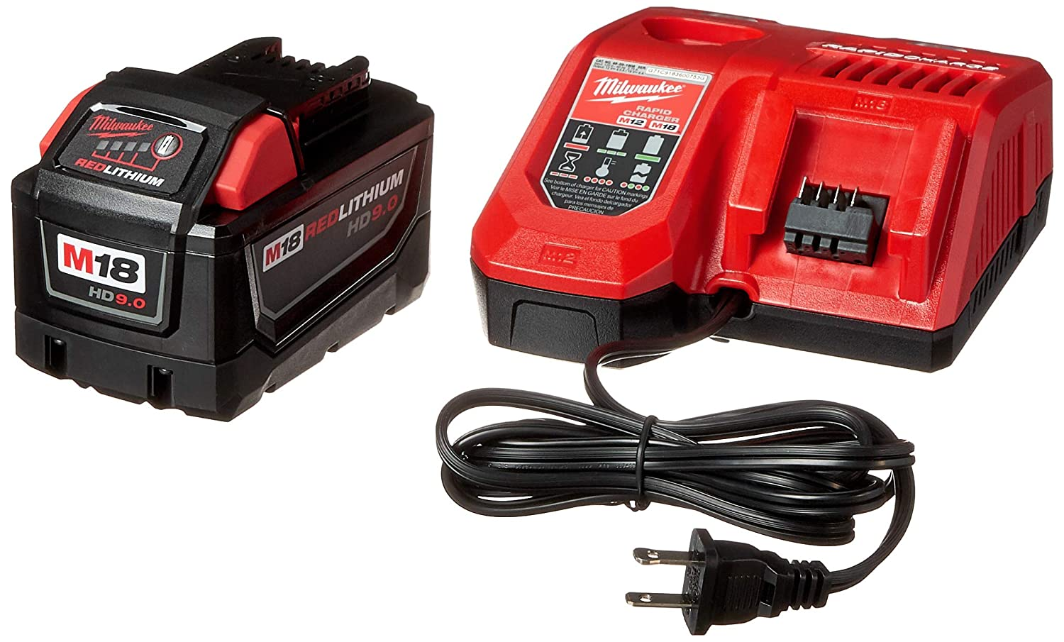 MILWAUKEE ELEC TOOL 48-59-1890 M18 9.0Ah Starter Kit