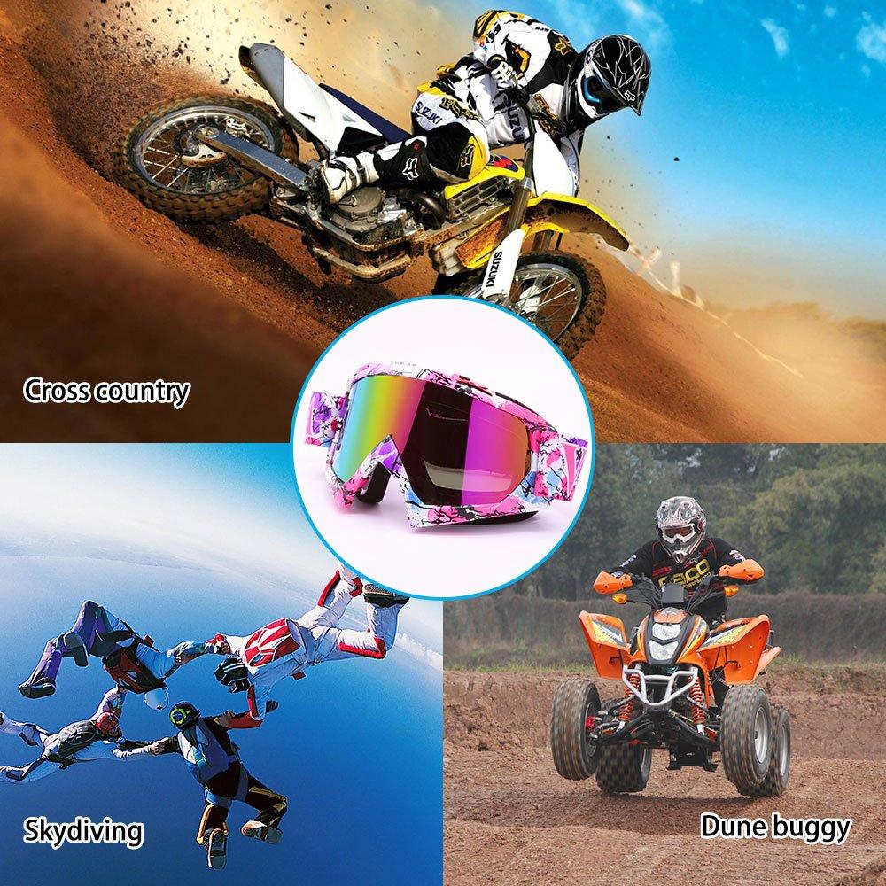 Zdatt Motorcycle Ski Goggles Snow Skiing Snowboarding Motocross Anti-Fog Goggles