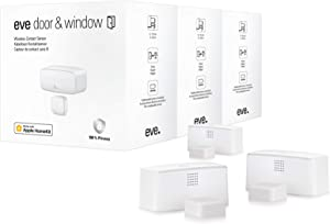 Eve Door & Window 3 Pack - Wireless Contact Sensor with Apple HomeKit Technology, Bluetooth Low Energy