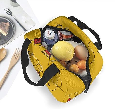 ni/ñas y ni/ños ni/ños mujeres hombres para adultos WowPrint con cremallera y aislamiento Bolsa de almuerzo con dise/ño de huellas de perro