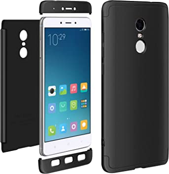 Funda Xiaomi Redmi note 4x Negro, ivencase Carcasa 3 en 1 Duro Tapa Anti-rasguños Mate PC Back Bumper Protector Anti-Scratch Integral Case Cover para Xiaomi Redmi note 4x 5.5