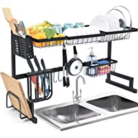 Over the Sink Dish Rack, Dish Drying Rack for Kitchen Organizer Storage Space Saver with Utensil Holder, Tableware Rack…